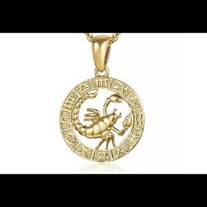 "Scorpio Zodiac Sign Gold Filled 18"" Necklace"